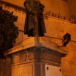 La statua di D. Cirillo prima dello spegnimento